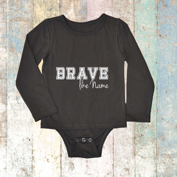 Personalised BRAVE like Long Sleeve (Grey Charcoal) - Long Sleeve T-Shirt
