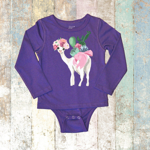 Llama Long Sleeve (Purple)