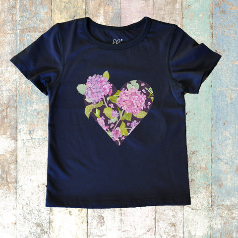Hydrangea Short Sleeve (Navy Blue)