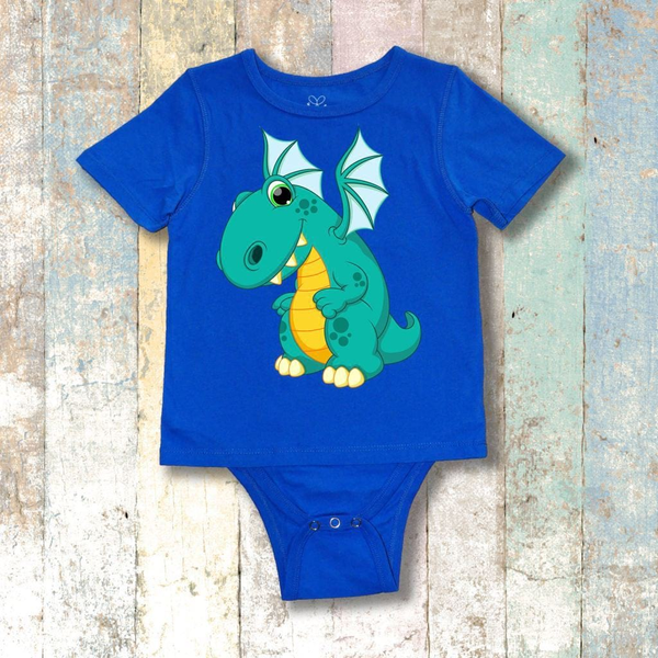 Gtube Adaptive Clothing - Smiley Dragon Short Sleeve (Royal Blue)