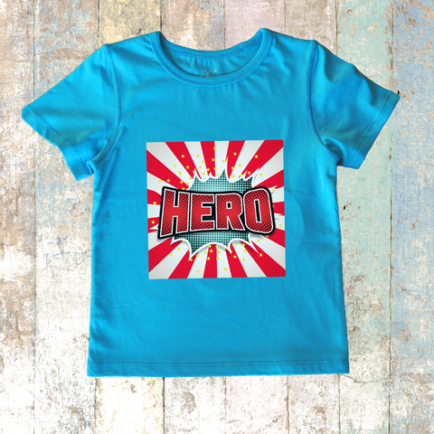 HERO Plain Short Sleeve (Blue)