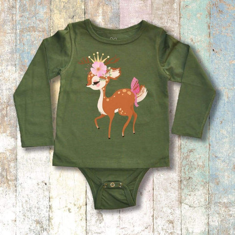 Gtube Adaptive Clothing - Reindeer Long Sleeve (Olive Green)