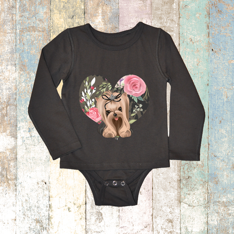 Yorkie Long Sleeve (Grey Charcoal) - Long Sleeve T-Shirt