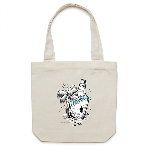 Bottled Emotions | Canvas Tote Bag