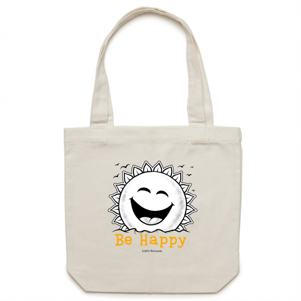 Be Happy | Canvas Tote Bag