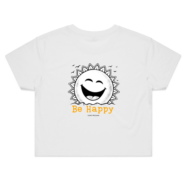 Be Happy | Crop Tee