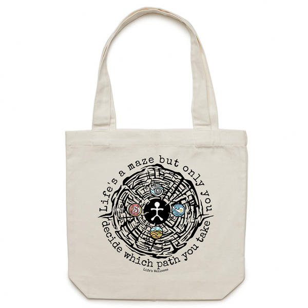 Life's a Maze | Canvas Tote Bag