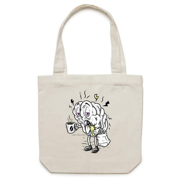 Exhausted | Canvas Tote Bag