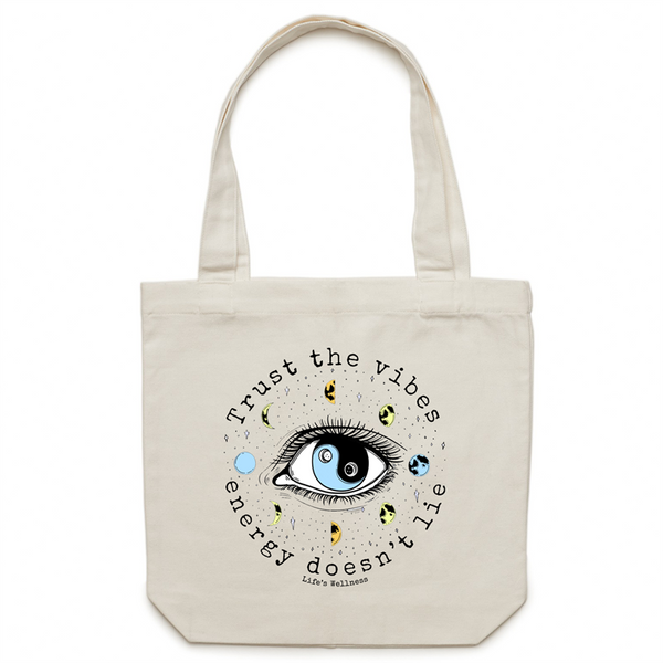 Trust the Vibes | Canvas Tote Bag