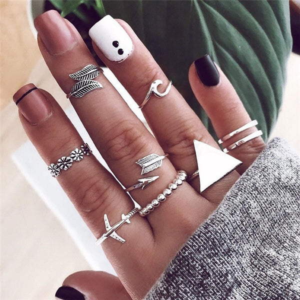 Bohemian Beachy Ring Set