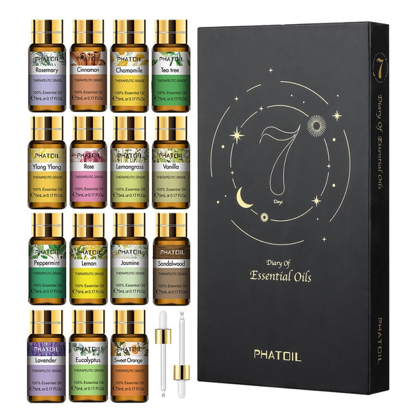 Pure Natural Plant Extract Essential Oils Kit (15pcs Gift Set)