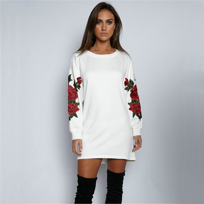 Sophia Rose Embroidered Pullover