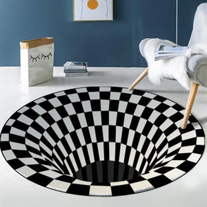3D Vortex Illusion Rug