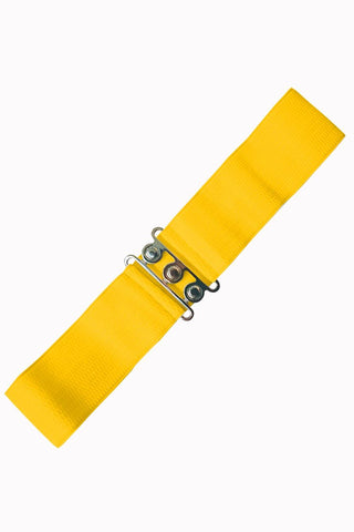 *NEW* Vintage Stretch Belt: YELLOW