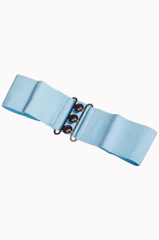 Vintage Stretch Belt: BABY BLUE