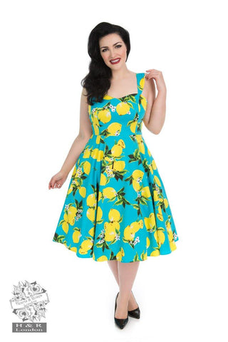 *NEW* Vintage Blue Lemon Dress
