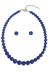 *NEW* Natalie Style Bead Necklace Set: Blue