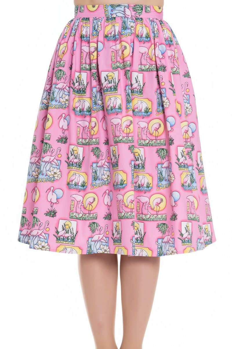 Maxine Flamingo Skirt