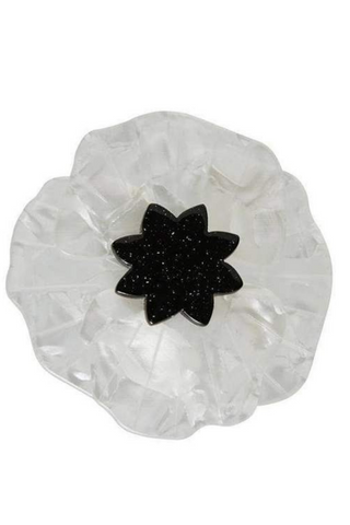 Poppy Field Brooch: White