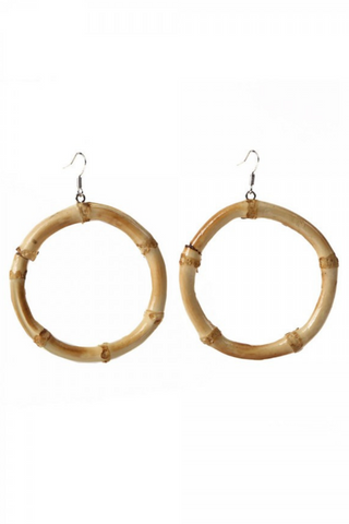 Tammy Large Circle Bamboo Earrings