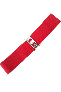*RESTOCKED* Vintage Stretch Belt: RED