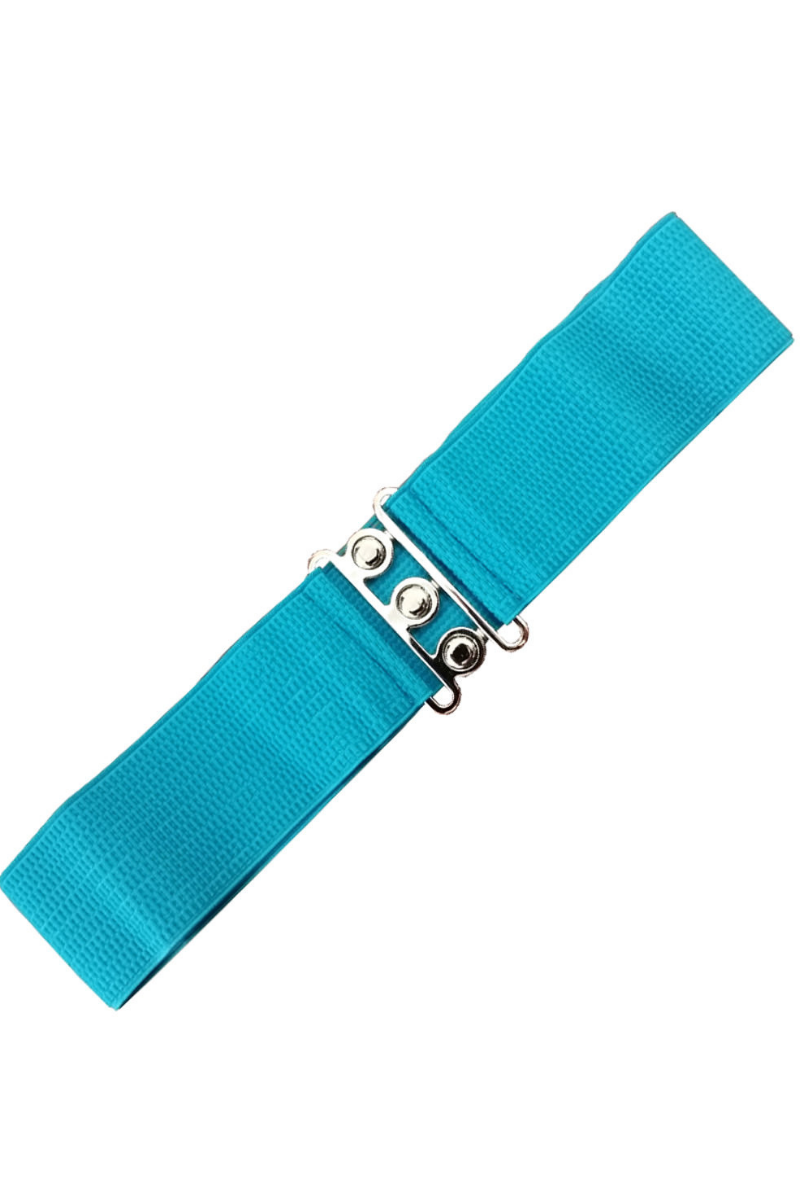 Vintage Stretch Belt: TEAL BLUE