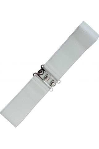*RESTOCKED* Vintage Stretch Belt: WHITE
