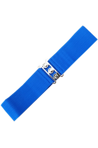 Vintage Stretch Belt: Royal Blue