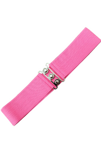 *RESTOCKED* Vintage Stretch Belt: HOT PINK