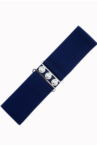 Vintage Stretch Belt: NAVY