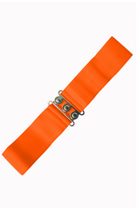 Vintage Stretch Belt: ORANGE