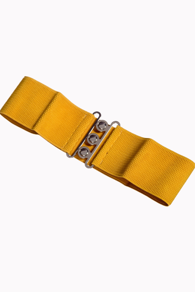 Vintage Stretch Belt: MUSTARD