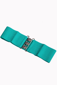 Vintage Stretch Belt: AQUA