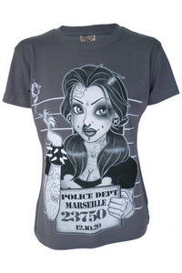 Mugshot Womens Grey T Shirt