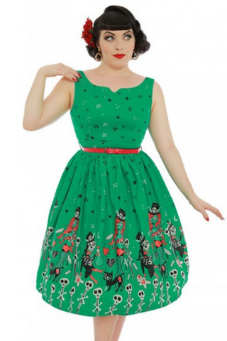 Delta Green Witch Doctor Print Swing Dress