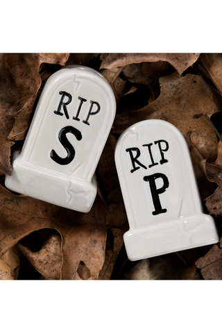 Tombstone Salt & Pepper Shakers