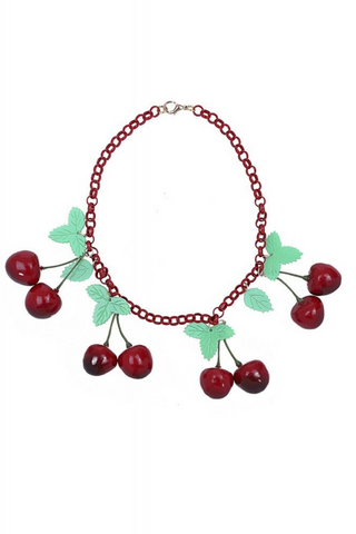 *NEW* Vintage 40s Cherries Necklace