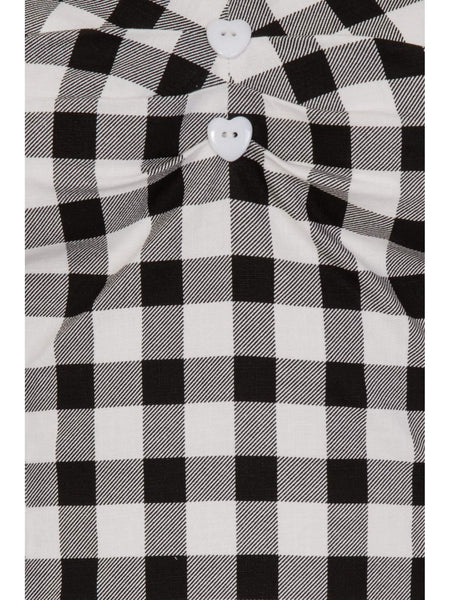 Mainline Dolores Vintage Gingham Top: Black/White