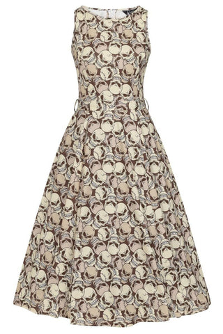 Hepburn Dress: Skulltastic