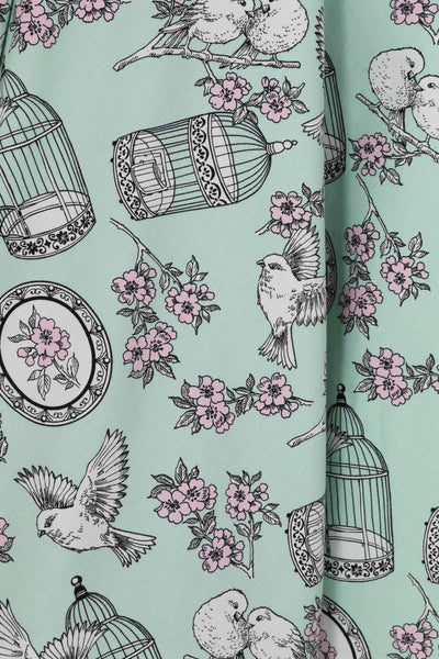 *NEW* Birdcage 50s Dress: Mint