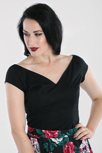 *NEW* Petunia Top: Black