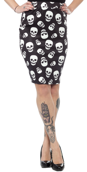 Lust for Skulls Scuba Skirt