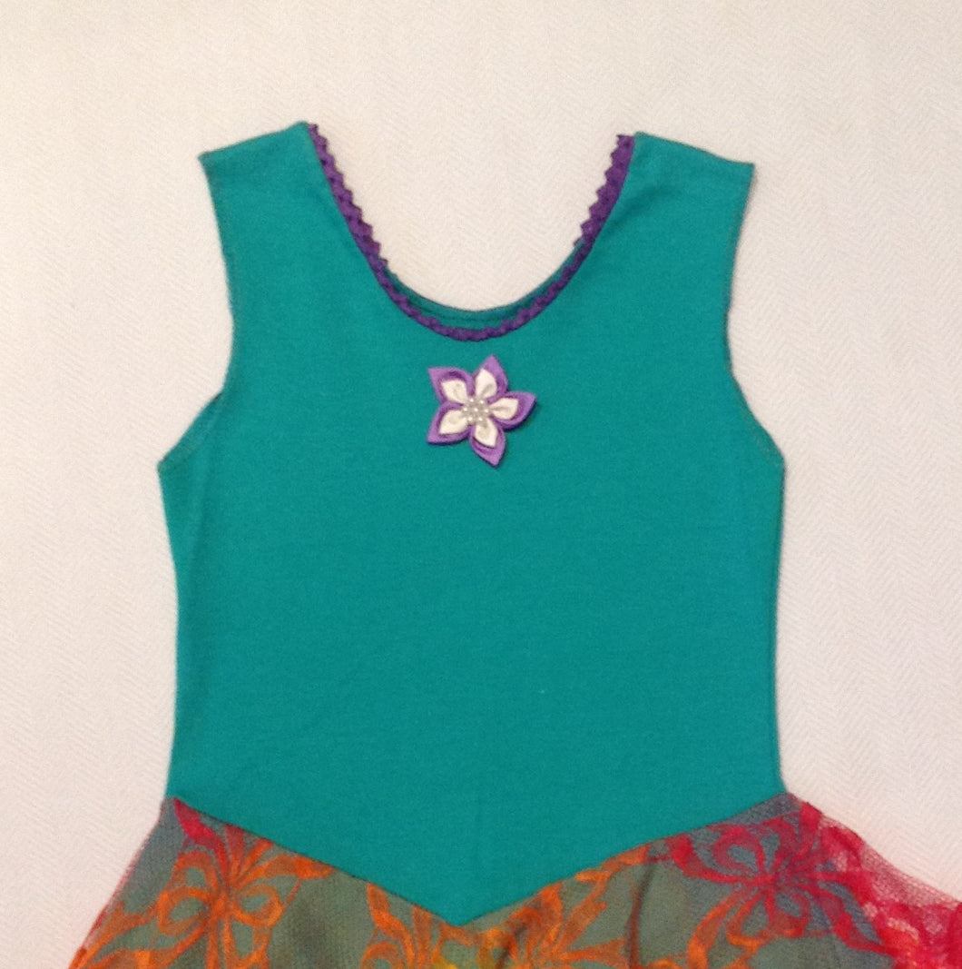Layered Rainbow with Seagrass Green Princess Fairy Dress