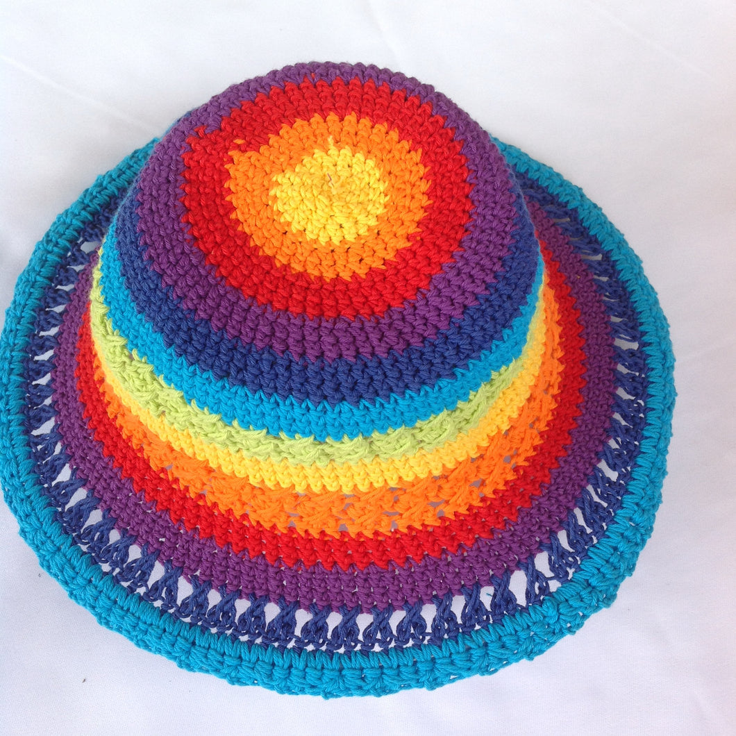 Crochet Rainbow Hats Medium