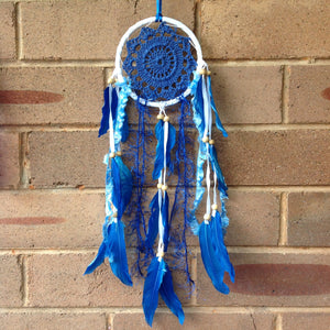 Dreamcatcher Boho Crochet Blue 11cm