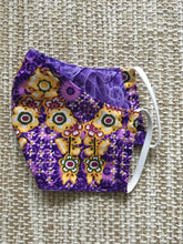 ADULT FACE MASK Double Layer with Pocket Purple Floral