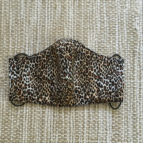 ADULT FACE MASK Triple Layer with Pocket and Nose Wire  Animal Print