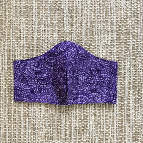 ADULT FACE MASK Triple Layer with Pocket and Nose Wire Purple Dots