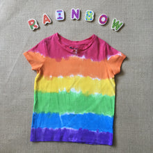 Tie Dyed T-Shirt Rainbow Red Top