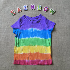 Tie Dyed T-Shirt Rainbow Purple Top